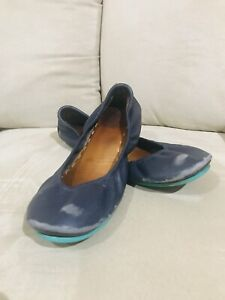 Tieks Womens Ballet Flats Shoes Size 9 California Navy Preowned