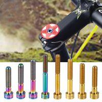 1pc Titanium Bike Headset Stem M6 Thread Bolt 35/40 Long Screw Bicycle Accessory