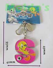 WB Tweaty Pie Letter key keyring split rings ring hoop loop metal holder large