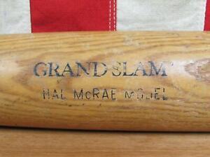 "Vintage 1970s Louisville Slugger Wood 180 Baseball Bat Grand Slam Hal McRae 33"""