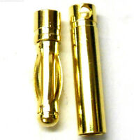 C0402 RC Connector 4mm 4.0mm Gold Plated Male and Female Bullet Banana x 1 Set