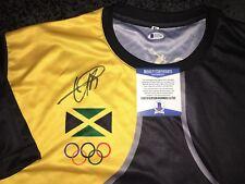 Usain Bolt Signed Rio Olympics Jersey Gold Medal 9x Gold 🇯🇲 Jamaica Beckett#11