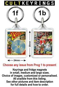 2000 AD Prog Covers keyring / fridge magnet - Judge Dredd, choose any Prog