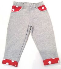 DISNEY BABY GIRLS GREY& RED JOGGERS TRACKIES BOTTOMS 9-12 MONTHS BNWOT