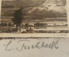 Painter And Eraser Ludwig Fischbeck (1866-1954): Signed Etching, Landscape