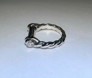 Authentic Sterling Silver Male Shackle Ring by David Yurman