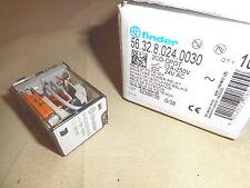 Finder Relay 56.32.8.024.0030  DPDT relay, 24VAC coil (NIB)