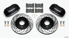 WILWOOD BRAKE KIT DPHA FRONT CALIPERS/DRILLED ROTORS HONDA CIVIC BLACK 262MM