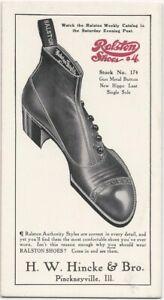 Ralston Mens Shoes / Pinckneyville Illinois Dealer Fashion Advertising Blotter