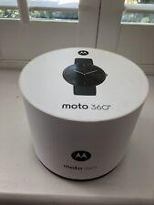 Motorola Moto 360 46mm Black Stainless Steel Case Leather Black Classic Buckle