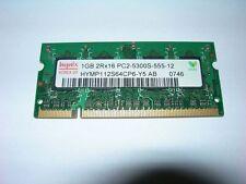 Barrette mémoire HYNIX 1 GO SO-DIMM DDR2 PC2 5300 8 puces mémoires par coté