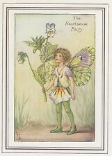 CICELY MARY BARKER c1930 THE HEART'SEASE FAIRY Painting Vintage Art Book Print