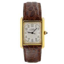 Cartier Devi De Cartier Data Placcato Oro Giallo Quarzo 25 x 33 mm Orologio