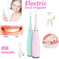 Ultra Sonic Electric Tooth Stain Remover Eraser Cleaner Dental Scaler Tooth Pick