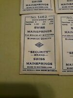 Swiss Mainsprings #1462 14x13x8.5 Bracelet Watches Lot Of 12 Vintage Old stock