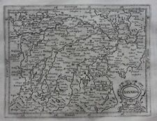 Original antique map GERMANY, BAVARIA, Mercator, Hondius, 1637