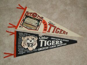 1969 DETROIT TIGERS 1968 WORLD SERIES CHAMPIONS TEAM PHOTO BASEBALL PENNANT LOT