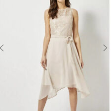 Pretty Dorothy Perkins Blush pink occasion Cocktail lace party dress UK 14 BNWT