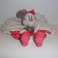 Doudou Souris Minnie Disney - Blanc Rouge Pois