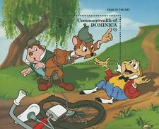 Dominica Disney Mr. Toad Water Rat Mole Bicycle Tree Souv. Mnh