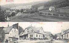 AK Morgenröthe Gasthof zur Eisenhütte, Dorfstraße, Herrenhaus, Postkarte 1911