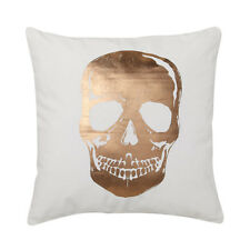 SKULL GOLD Square Filled Cushion 45cm x 45cm - Ultima Logan and Mason