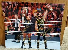 WWE Seth Rollins & Becky Lynch Inscribed autograph 8 x 10  Photo PROOF PICTURE