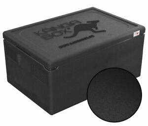 Thermobox KÄNGABOX® Warmhaltebox Isolierbox Kühlbox GN 1/1 - 46 Liter, schwarz