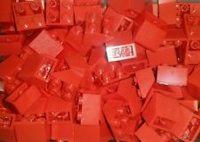 *NEW* Lego Bulk Red 2x2 Inverted Slope Bricks Blocks Walls Roof Houses 10 pieces
