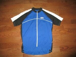 Men's Louis Garneau Blue/White/Black Full Zip Cycling Jersey Sz. XL