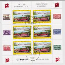 Echte gestempelte Briefmarken mit Eisenbahn österreichische