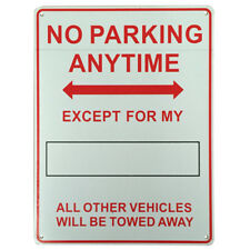 2x WARNING NOTICE SIGN NO PARKING ANYTIME DRIVE DIY NO. 225x300mm Metal 16003024
