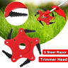 5 Steel Blades Razors 65Mn Lawn Mower Grass Eater Trimmer Head Brush Cutter Tool