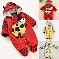Baby Winter Snowsuit Cotton Hoodie Jumpsuit Outwear cute Animal Print Romper hot