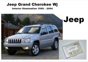 JEEP GRAND CHEROKEE WJ 1999-2004 Interior pure White 24 LED KIT