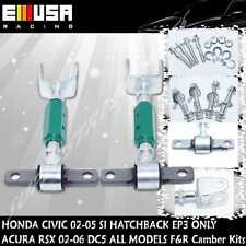 EMUSA RSX BASE TYPE-S Civic SI EP3 K20 K20A Silver Adj.F+R Camber Kit GREEN