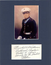 Hershel Williams Signed Matted with photo frame 8x10 COA 12/18 MOH- choice of 2