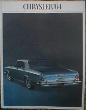Original 1964 Chrysler Sales Brochure Catalog 64 New Yorker 300 Newport