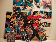 DC COMICS ZERO HOUR 1994 RARE POSTER AND STORE PROMOS BUNDLE (FREE SHIP/GIFT)