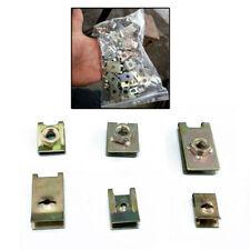 100Pcs Car Body Door Panel Fastener Fixed Screw U Type Gasket Fender Clips Kit