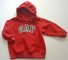 Boys Sz 12 18m Baby GAP Red Fleece Logo Hoodie