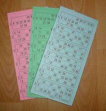600 BINGOTICKETS BINGO Bingoblock Bingoschein 15 aus 90