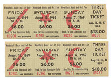 2 Authentic Unused 3Day Tickets for the Original 1969 Woodstock Festival NR MINT
