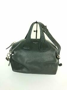 GIVENCHY  Leather 2Way Boston Bag Duffel Leather Black Fashion Bag From Japan