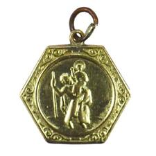 Georg Jensen 9K Yellow Gold St Christopher Charm Pendant