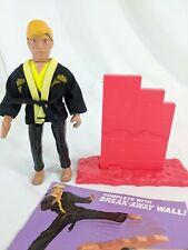 Karate Kid 1986 Remco Johnny Cobra Leader Action Figure Used w/ Break Away Wall