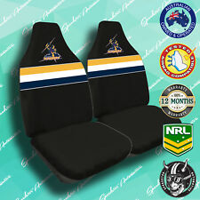 NEW! MELBOURNE STORMS FRONT CAR SEAT COVERS, OFFICIAL NRL, AIRBAG COMPATIBLE