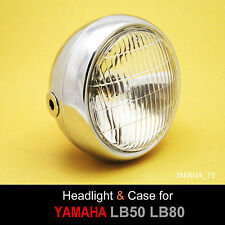 Yamaha LB50 LB80 LB-2M 50 80 Chappy Moped Headlight + Rim + Chrome Bucket Case