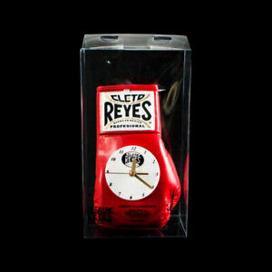 Authentic Cleto Reyes red leather boxing glove clock