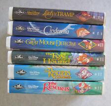 6 Disney Classics Diamond Rescuers Tramp Cinderella Mouse Detective Fox Hound